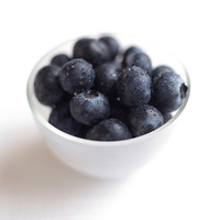 Close up of some blueberries in a bowl
