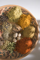 Close-up of spices on a plate