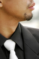 Close-up picture of a man in business suit