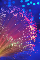 Fiber optic light wand close up