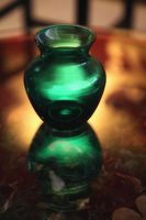 Green translucent vase