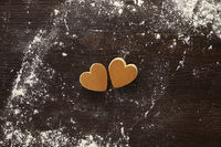 Heart shaped muffin cut outs