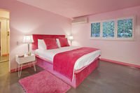 Interior design of pink bedroom