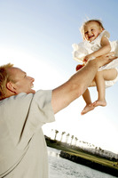 Popular : Man lifting up his young daughter
