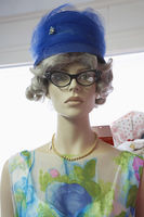 Mannequin wearing vintage clothing
