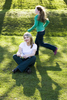 Popular : Mother and daughter having fun in the park