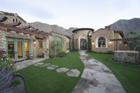 Paved pathway to palm springs home
