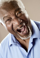 Popular : Senior man laughing