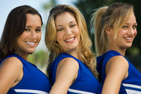 Smiling cheerleaders  portrait