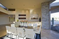 Sunlit palm springs dining room