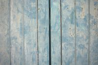 Wood panels painted blue