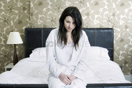 Medication : A sick woman in her bedroom