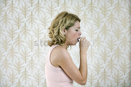 Medication : A woman coughing