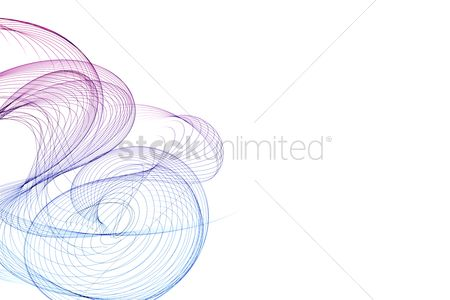 Fine lines : Abstract design with multi-colored lines