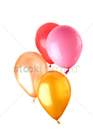 Pink : Balloon on white background