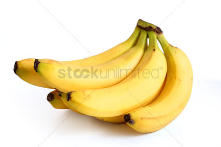 Background abstract : Bananas on white background