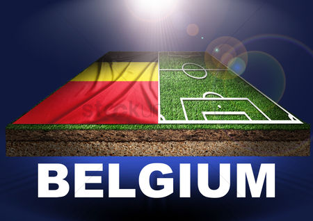 Pitch : Belgium with football field