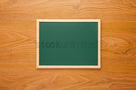 Blank : Blackboard on desk background with copy space