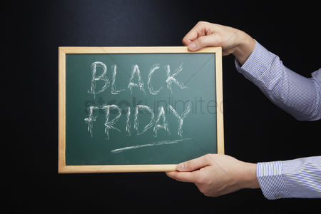 Black friday : Blackboard with text black friday