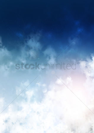 Spring : Blue sky background design
