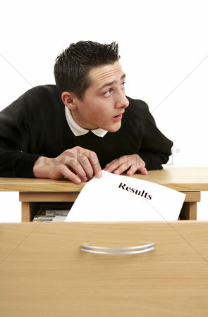 Alert : Boy stealing a sheet of exam results