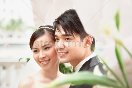 Elegance : Bride and groom at their wedding ceremony
