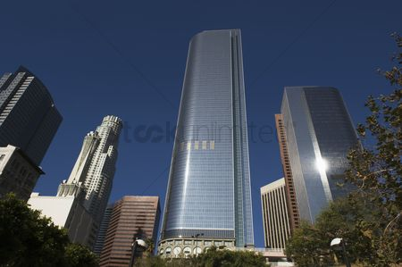 High angle view : Business district california
