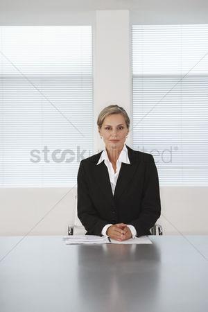 Spacious : Business executive sitting in boardroom