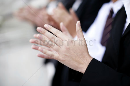 Celebration : Business people clapping hands