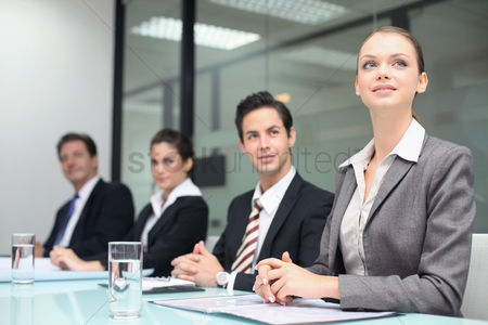 Business suit : Business people in a meeting