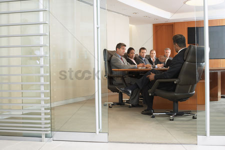 Leadership : Business people in office meeting