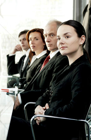 Sales person : Business people paying attention in the conference room