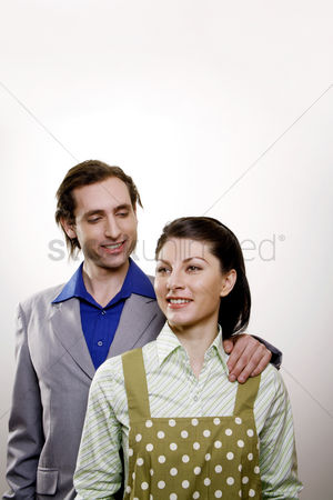 Proud : Businessman and his housewife
