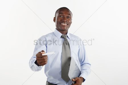 Sales person : Businessman giving business card