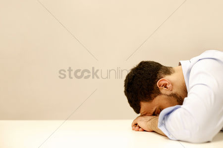 Sales person : Businessman grieving over his failure