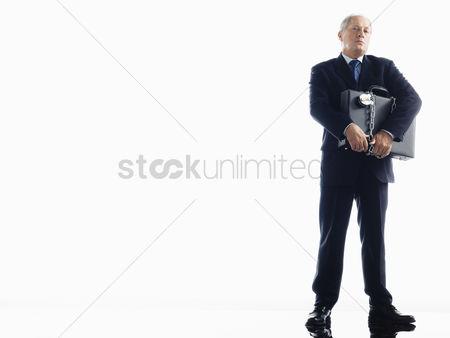 Intimidating man in suit vector