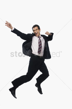 Excited : Businessman jumping
