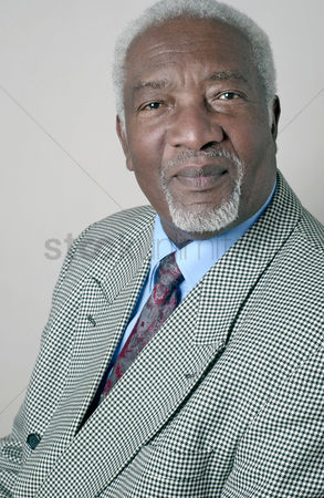 Aging process : Businessman looking at the camera
