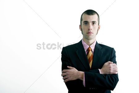 Man suit fashion : Businessman looking at the camera