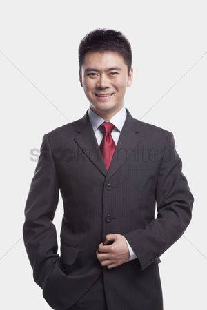 Proud : Businessman on white background