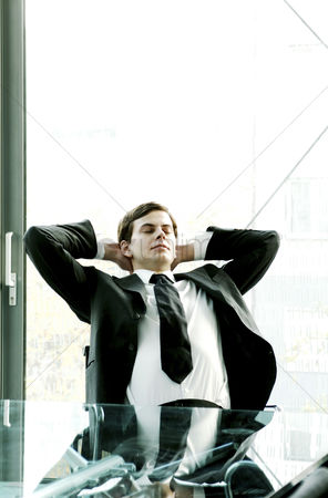 Determined : Businessman relaxing