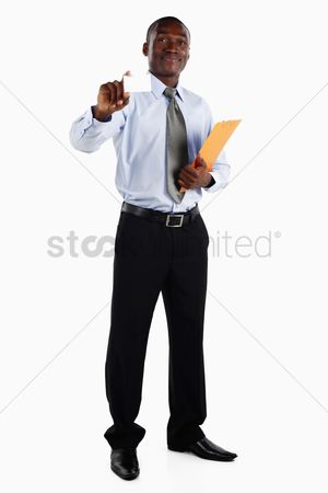 Advice : Businessman showing business card