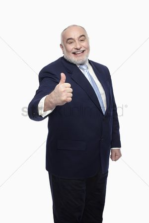 Respect : Businessman showing thumbs up