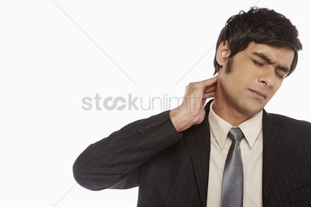 Ache : Businessman touching his neck