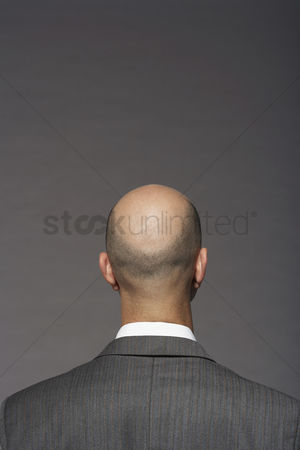 Head shot : Businessman with bald head