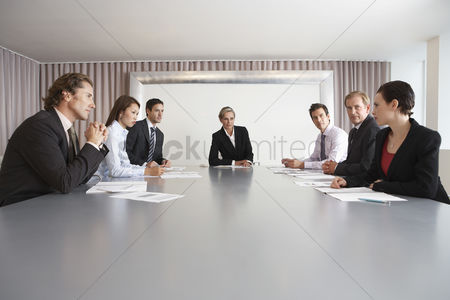 Spacious : Businesspeople in conference room during meeting