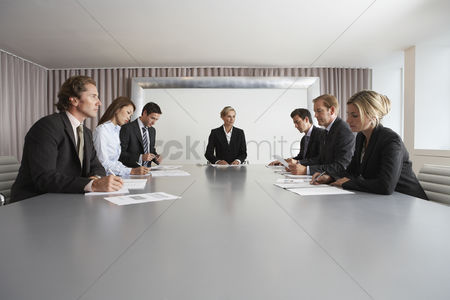 Leadership : Businesspeople meeting in conference room