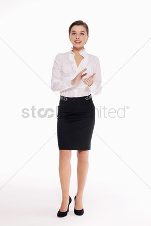 Respect : Businesswoman clapping hands