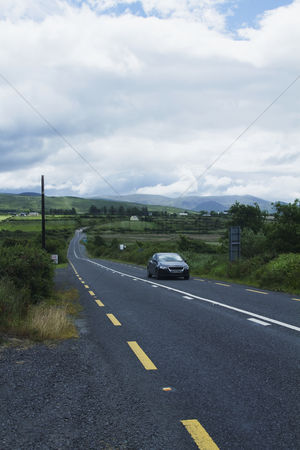 On the road : Car on the road  ring of kerry  county kerry  republic of ireland