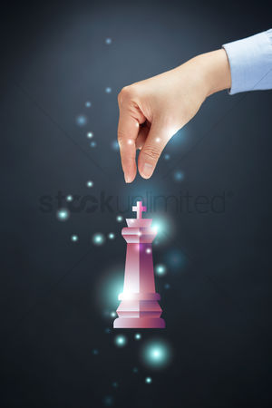 Grasp : Chess piece with hand gesture